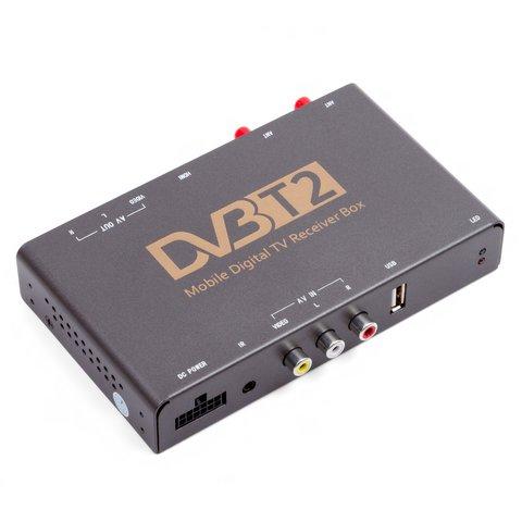Автомобильный цифровой тюнер DVB T2 HEVC с видеовходом