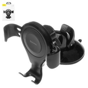 Автомобільний тримач Baseus, чорний, висувний, вакуумна присоска, #SUYL XP01