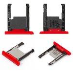 Memory Card Slot Holder Nokia 1520 Lumia, (red)