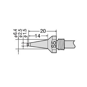 Desoldering Tip GOOT TP-100N-S5
