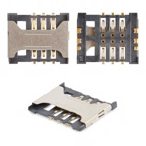 SIM Card Connector compatible with Fly DS106D, IQ238, IQ431 Glory, IQ449 Pronto, SL140DS