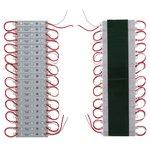 LED Strip Module 20 pcs. SMD 5050 (3 LEDs, red, adhesive, 1200 lm, 12 V, IP65)