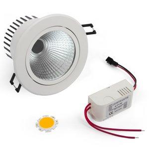 LED Downlight DIY Kit COB 7 W (warm white)