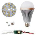 LED Light Bulb DIY Kit SQ-Q24 12 W (warm white, E27), Dimmable