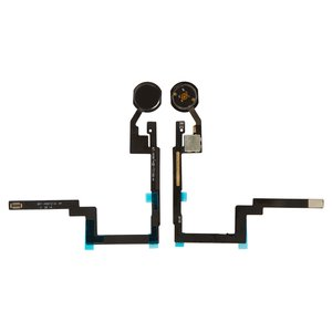 Flat Cable for Apple iPad Mini 3 Retina Tablet, (Home button, with component, black)