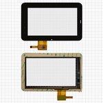 "Cristal táctil puede usarse con China-Tablet PC 7""; Rainbow Six Liunx T06; Onda Vi10, 7"", 191 mm, 119 mm, 12 pin, capacitivo, negro, #PINGBO PB70DR7013G-R1"