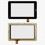"""Cristal táctil China-Tablet PC 7""""; Megafon Login 2 MT3A, 7"""", 190 mm, 118 mm, 30 pin, capacitivo, negro, #TPC1219 VER1.0/TPC0533 VER1.0"""