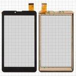 "Сенсорный экран для планшетов China-Tablet PC 7""; Pixus Touch 7 3G; Prestigio MultiPad Wize (PMT3147), MultiPad Wize (PMT3708), 7"", 184 мм, 104 мм, 30 pin, тип 1, емкостный, черный, #ZYD070-262-FPC V01/XHS0700401B V0 TX15 RX10"
