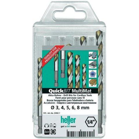 Набір свердел Heller QuickBit MultiMat 27305