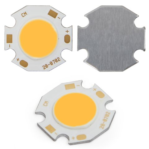 COB LED модуль 7 Вт теплий білий, 650 лм, 20 мм, 300 мА, 21 23 В