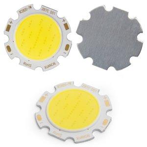 COB LED модуль 7 Вт (холодный белый, 650 лм, 28 мм, 300 мА, 21-23 В)