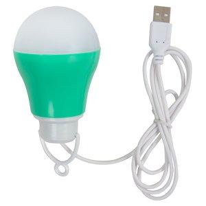 USB LED-світильник 5 Вт (холодний білий, корпус зелений, 5 В, 450 лм)