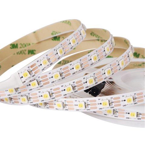 LED Strip SMD5050 white, monochrome, with controls, IP20, 5 V, 60 LEDs m, 5 m